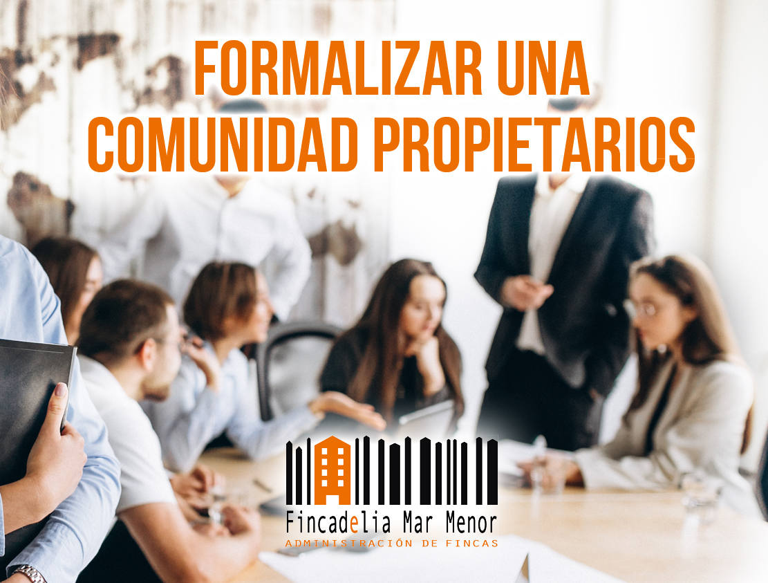 formalizar comunidad de propietarios